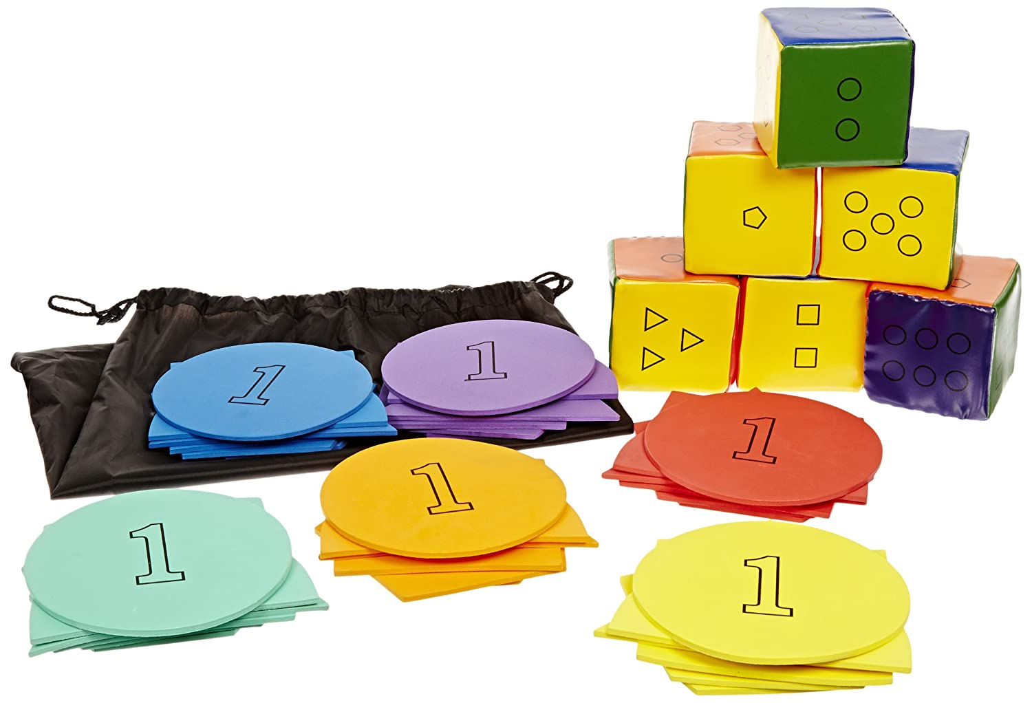and Numbers Game with Activity Guide Sportime WhatEver Shapes Set of 6 School Specialty 1353156 Colors