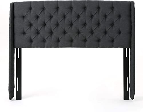 Christopher Knight Home Lidia Wingback Tufted Fabric Headboard - a good cheap modern headboard