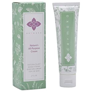 DERMAKA Skin Cream for Redness - All Natural Plant-Based Ingredients - 2oz Tube - Anti Bruising Moisturizer and Spot Treatment for Scars, Veins, and Acne