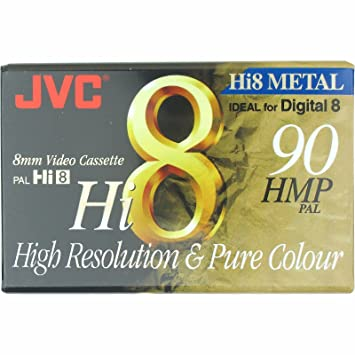 JVC Hi8 Metal Particle Blank Camcorder 8mm Video Cassette Ideal for Digital  8 Recording 90 Min HMP PAL Tape For High Resoltion and Pure Colour