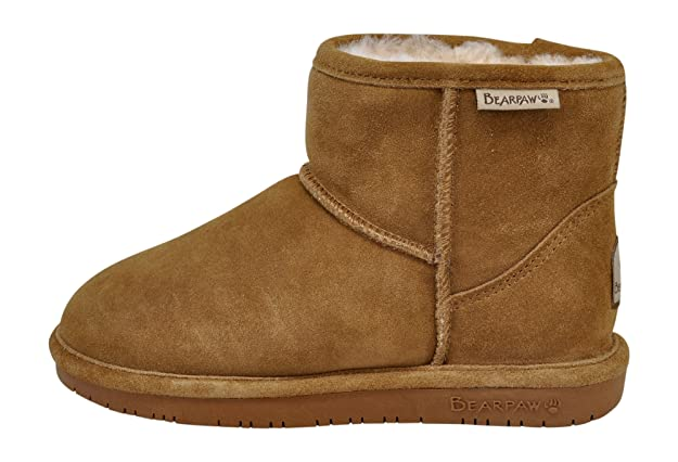 Amazon.com | BEARPAW Womens Demi Short Winter Boot, Hickory, 7 B(M) US | Boots