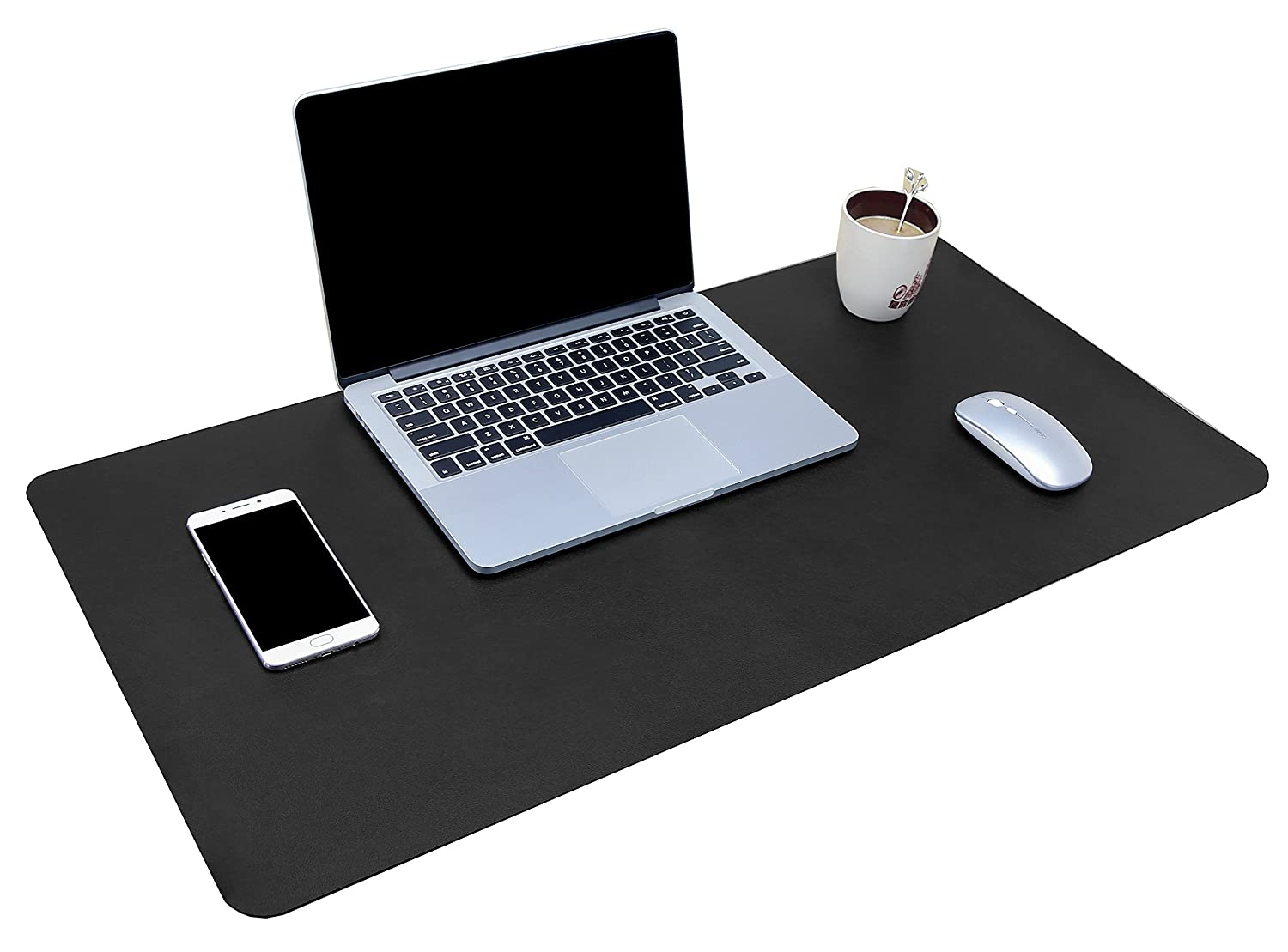 "Multifunctional Office Desk Pad, 35.4"" x 17"" YSAGi Ultra Thin Waterproof PU Leather Mouse Pad, Dual Use Desk Writing Mat for Office/Home (35.4"" x 17"", Black)"