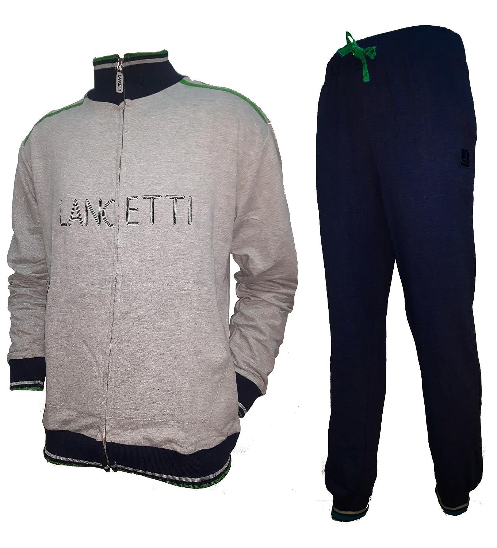 lancetti Tuta Donna Cotone Full Zip Homewear Sport e Tempo