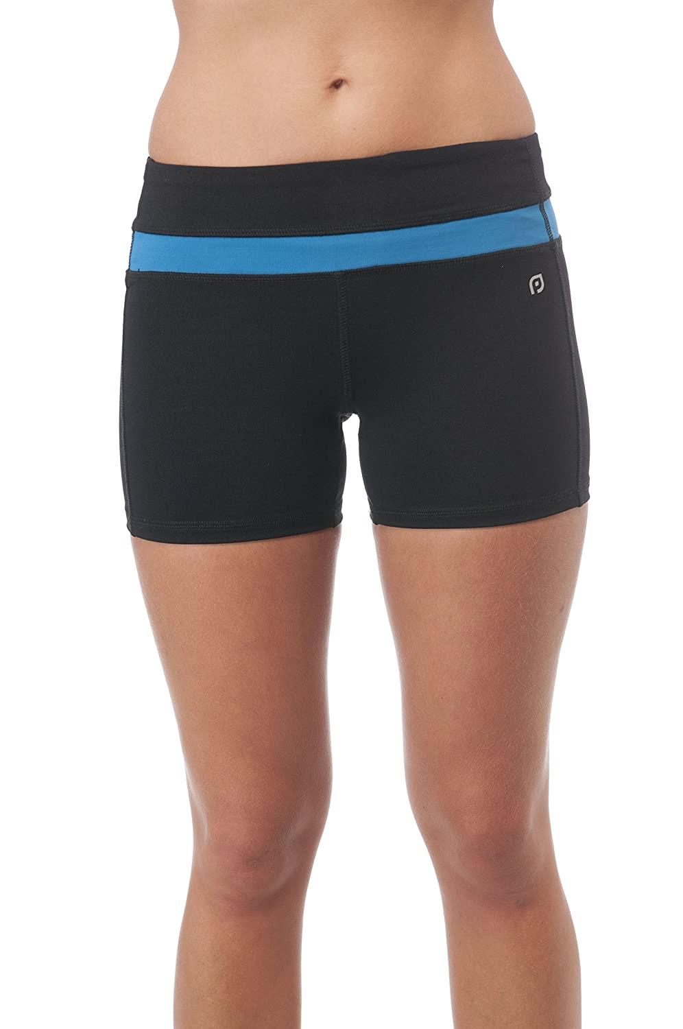 Solid Poly Spandex Active Wear Shorts Khanomak
