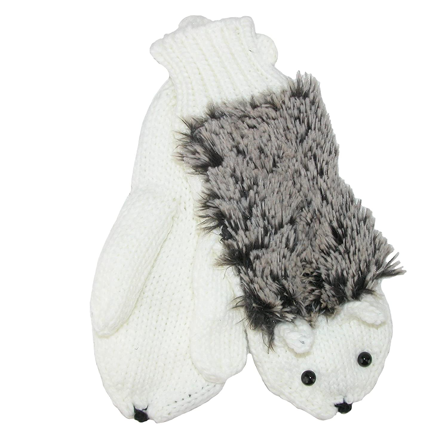 Howard's Women's Hedgehog Knit Mittens, Ivory Howard' s