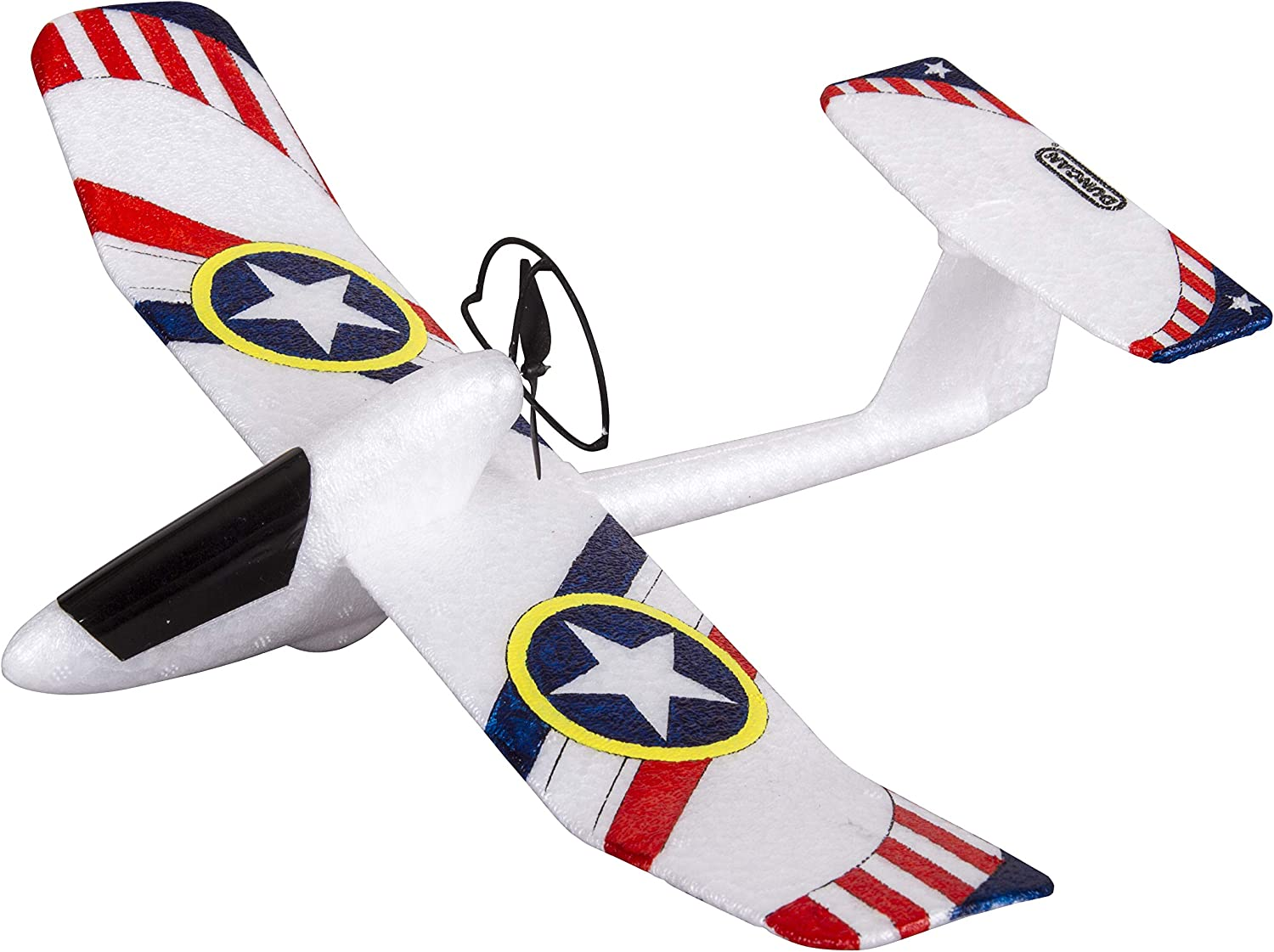 2 Flight Positions Extra Propellers USB Charger Duncan Toys EX-1 Glider Plane Power Assist Motorized Toy with Template Paint Kit Cable