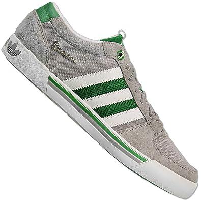 14d1fdff80b02 adidas Originals Herren Vespa LX Piaggio Sneaker Leder Schuhe G96645 GRAU  GRÜN