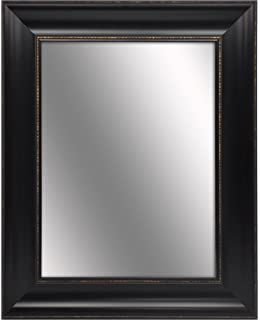 elan 255 inches by 315 inches ornate black with gold beading framed mirror