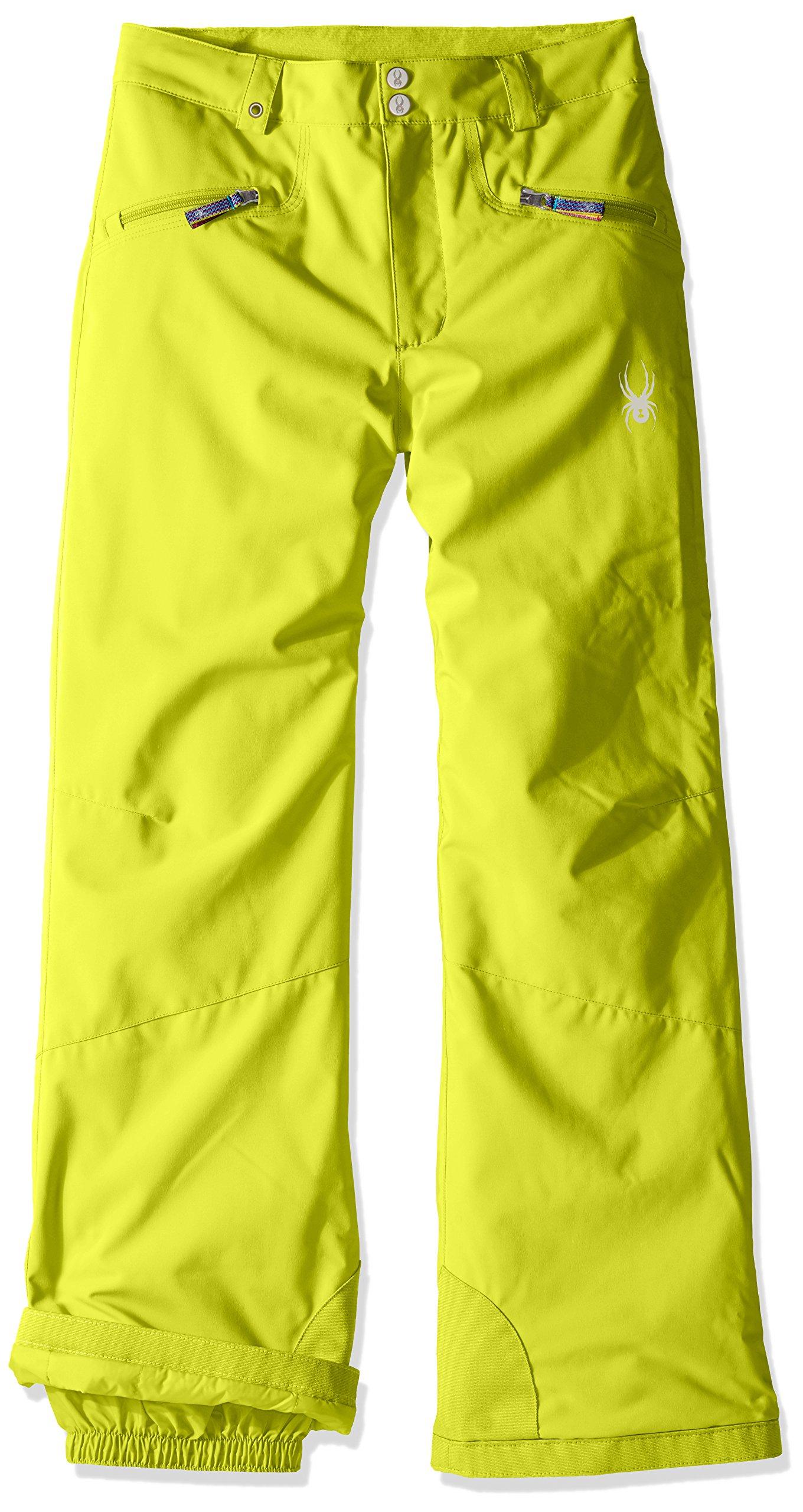 Spyder Girls Vixen Athletic Pants, Size 18, Acid