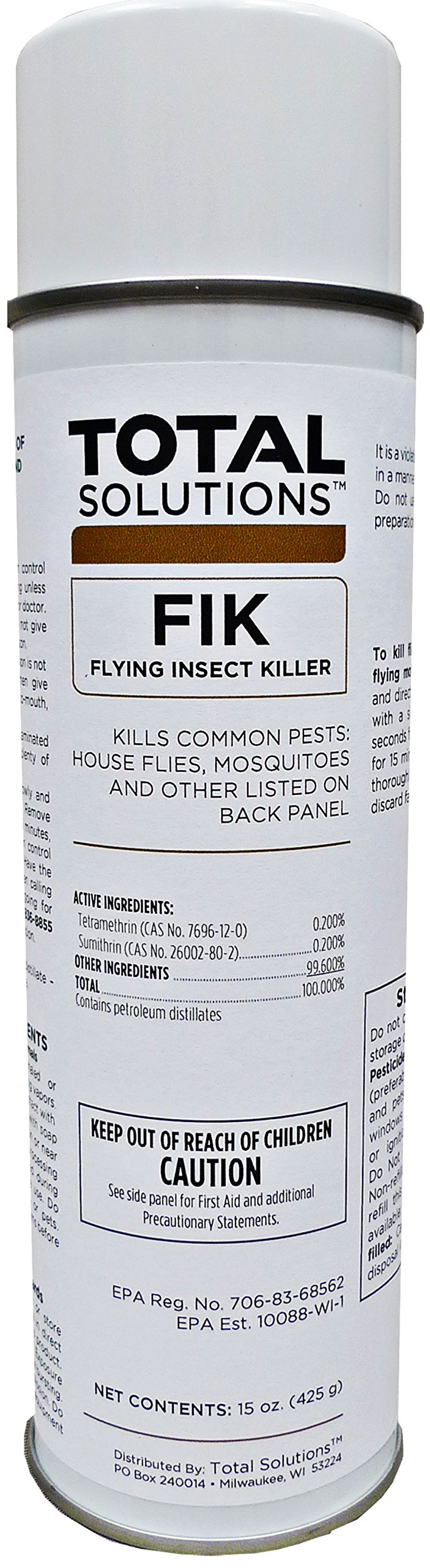FIK - Flying Insect Killer, Knocks flying insects out of the air - 12 Can Case