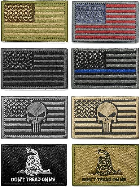 WZT - Juego de parches tácticos de moral militar con bandera estadounidense (12 piezas): Amazon.es: Hogar