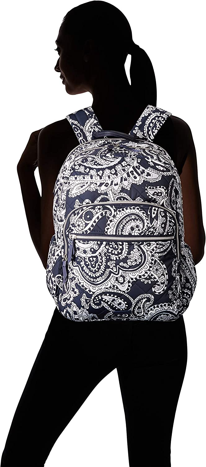 Vera Bradley Iconic Campus Zaino Performance Twill Deep Night Paisley Neutro. qvJkr