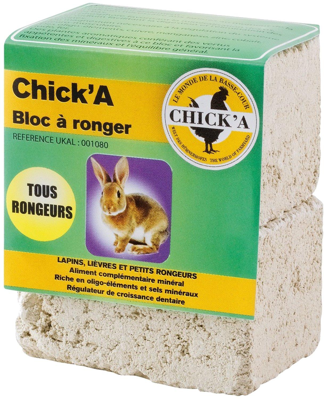 CHICK'A - UKAL 001080 - Basse-cour - Suppléments nutritionnels - Bloc à ronger tous rongeurs CHICK' A