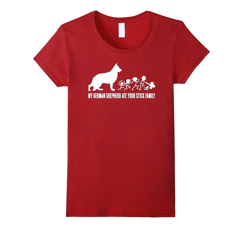 My German Shepherd Ate Your Stick Family T-Shirt-Loveshirt