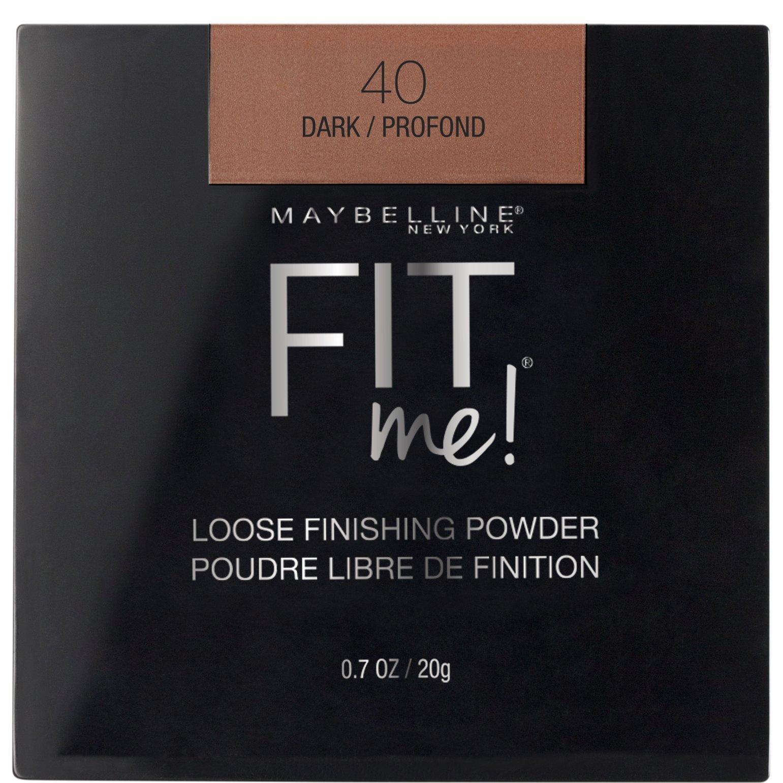 Maybelline New York Fit Me Loose Finishing Powder, Dark, 0.7 oz.