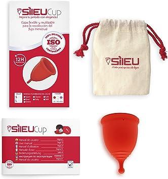 Copa Menstrual Sileu Cup Divine - Fácil de Extraer - Ayuda a prevenir infecciones urinarias y la cistitis - Alternativa ecológica y natural a tampones ...
