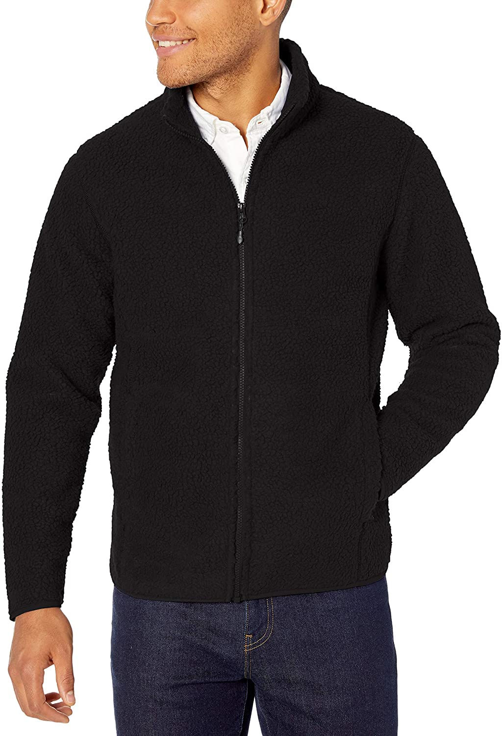 Amazon Essentials Men's Sherpa Fleece Full-Zip Jacket