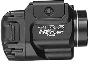 Streamlight 69410 TLR-8 500 Lumen Weapon Mounted Tactical Flashlight W/Red Laser, Black