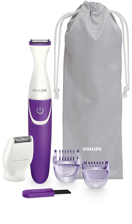 Philips BRT383/15 - Recortadora de precisión femenina, color blanco y morado