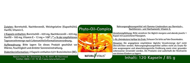 Phyto de Oil de Complex - 120 Cápsulas de Natura Vitalis®: Amazon.es: Salud y cuidado personal