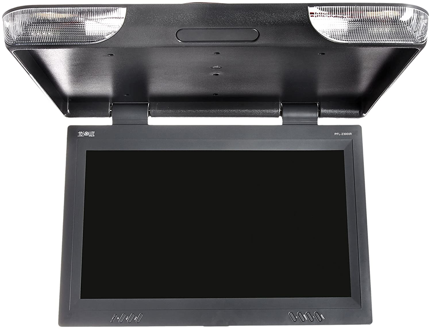 Absolute PFL-2300IRG 23-Inches TFT LCD Overhead Flip Down Monitor with Built-In IR Transmitter and Remote Control Absolute USA Grey