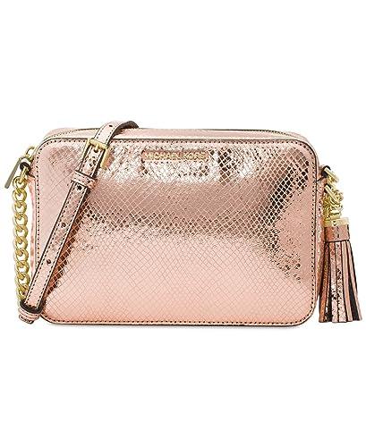 276fa8bc582b Michael Kors Ginny Medium Camera Bag - Soft Pink  Handbags  Amazon.com