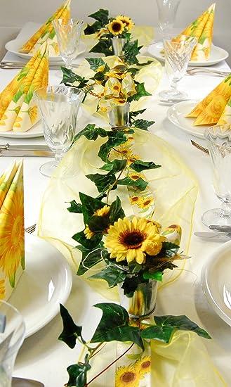 Fibula Style Komplettset Sunflower Grosse S Tischdekoration Fur