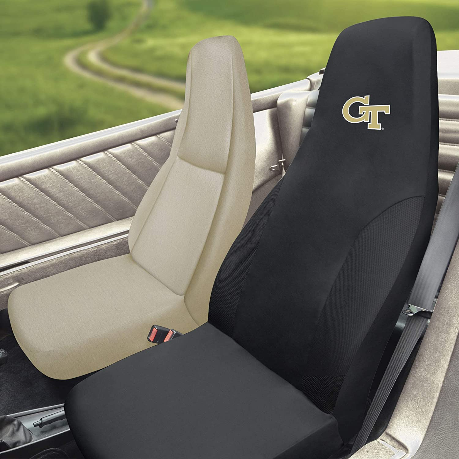 Team Colors One Sized FANMATS NCAA Georgia Tech Seat Coverseat Cover