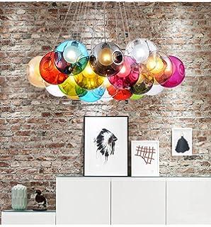 KJLARS Modern Pendelleuchte Kreativ Pendellampe Bunte Glas Hngeleuchte Mit 19 Lichter Fr Kinderzimmer Wohnzimmer Inklusiv