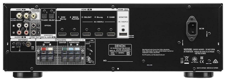 Denon AVR-X540 Sintoamplificatore Multicanale per Applicazioni A//V Nero 5 Canali x 130 Watt