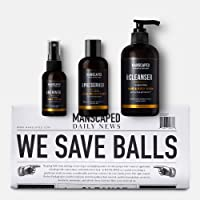 MANSCAPED™ Crop Essentials, Male Care Hygiene Bundle, Includes Invigorating Body Wash, Moisturizing Ball Deodorant, High…