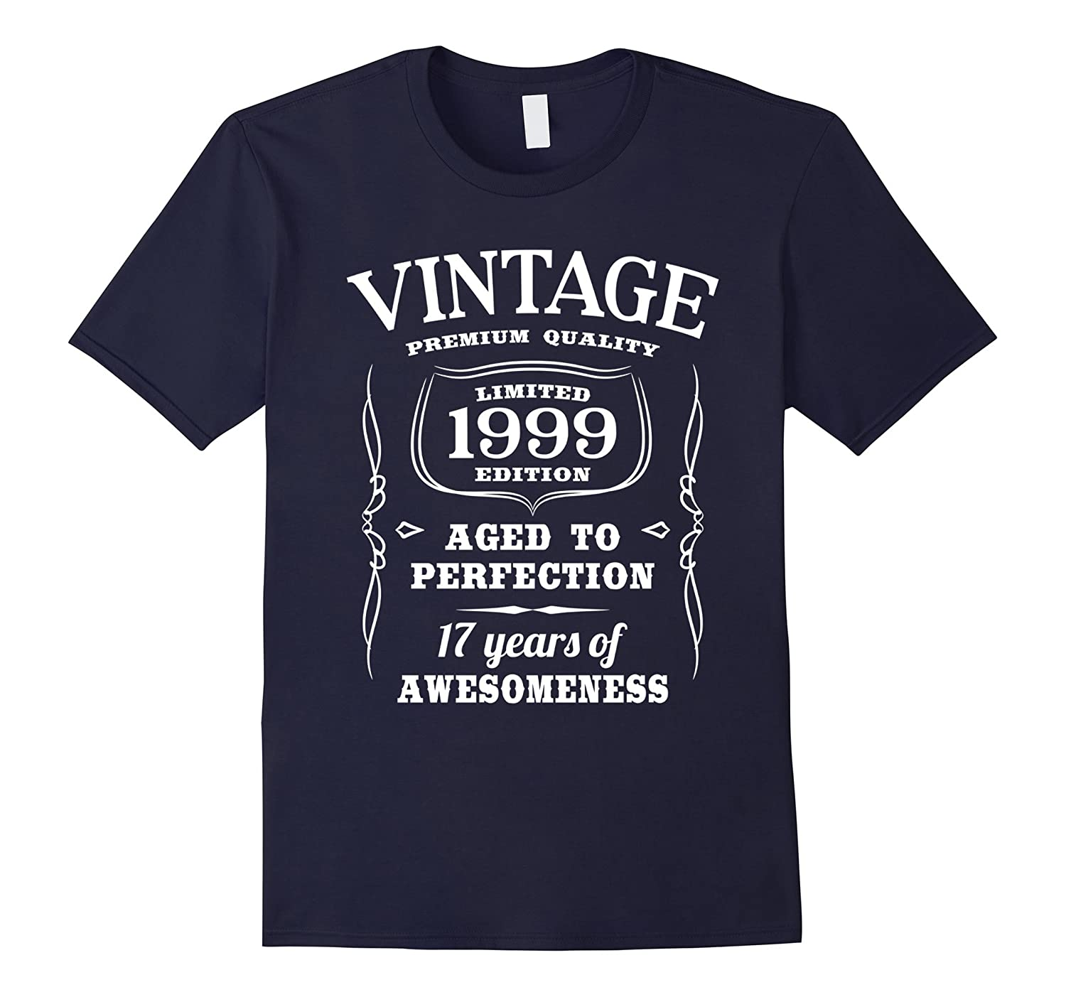 17th Birthday Gift T-Shirt Vintage Limited 1999 Edition-BN