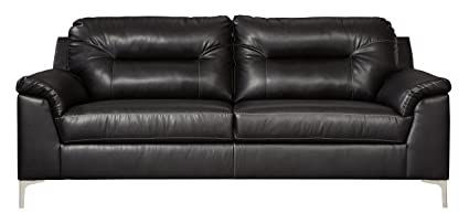 Ashley Furniture Signature Design - Tensas Contemporary Upholstered Sofa - Black