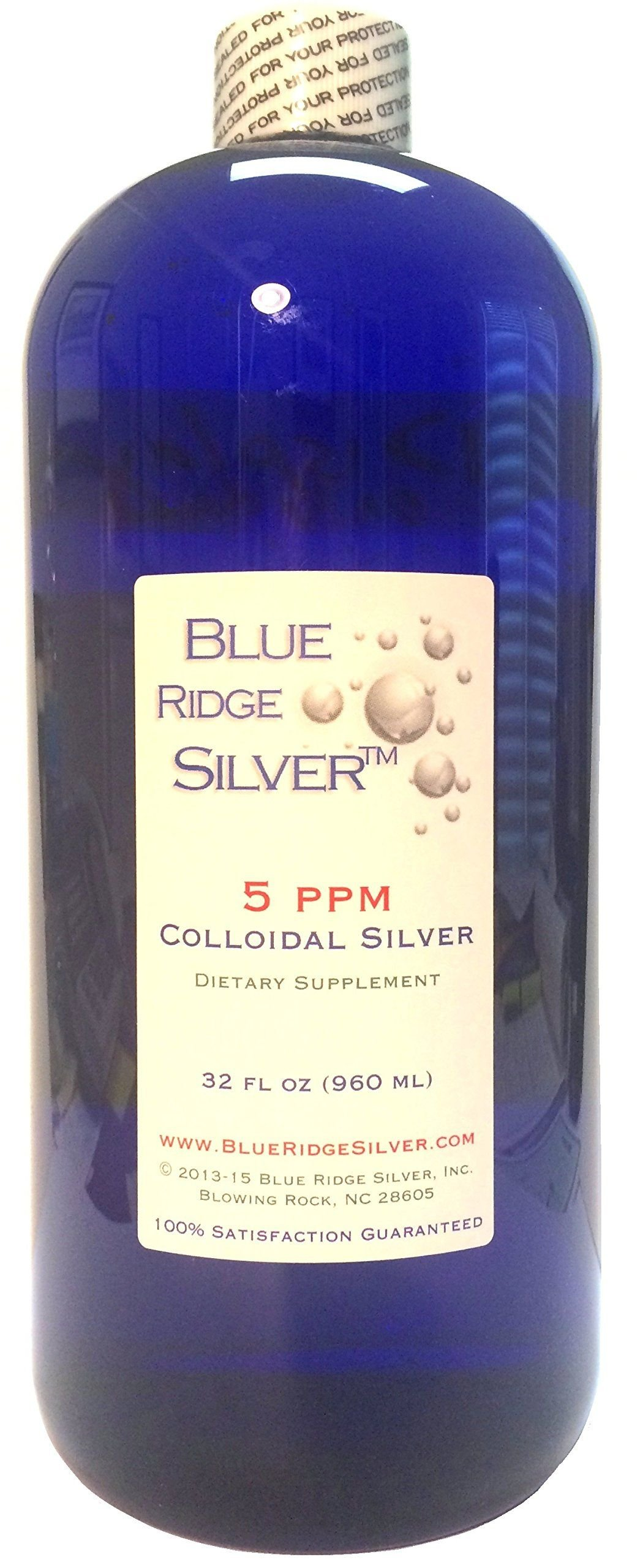 Amazon.com: Blue Ridge Silver 5 ppm 32 oz Colloidal Silver: Health & Personal Care