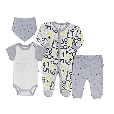 26973f409 Amazon.com  Snugabye Unisex Baby 4-Piece Take-Me-Home Romper Gift ...