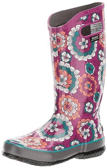 Bogs Women's Pansies Rain Boot, Berry Multi, ...