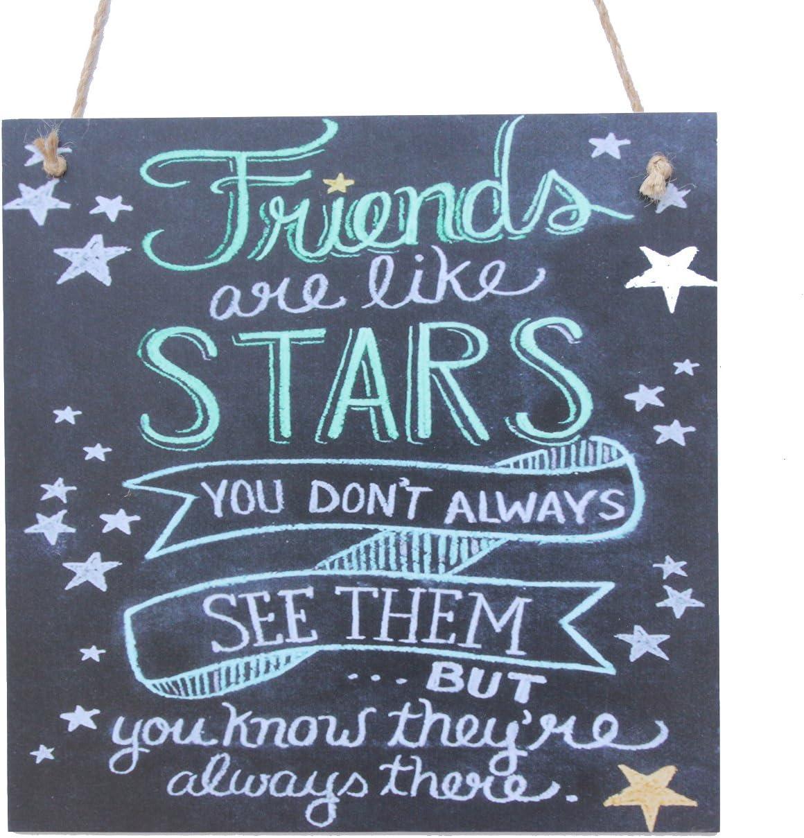 Friends Are Like Stars Chalk Sign By meijiafei