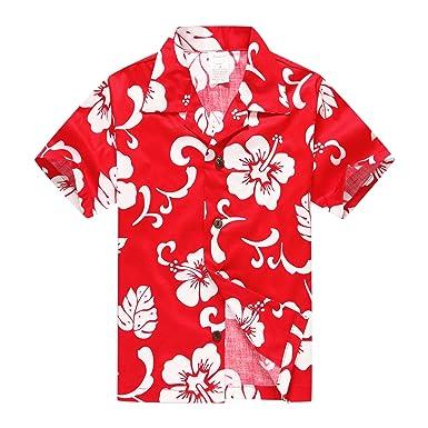 d2a812482 Palm Wave Boy Hawaiian Aloha Luau Shirt and Shorts 2 Piece Cabana Set in  Red Hibiscus: Amazon.co.uk: Clothing