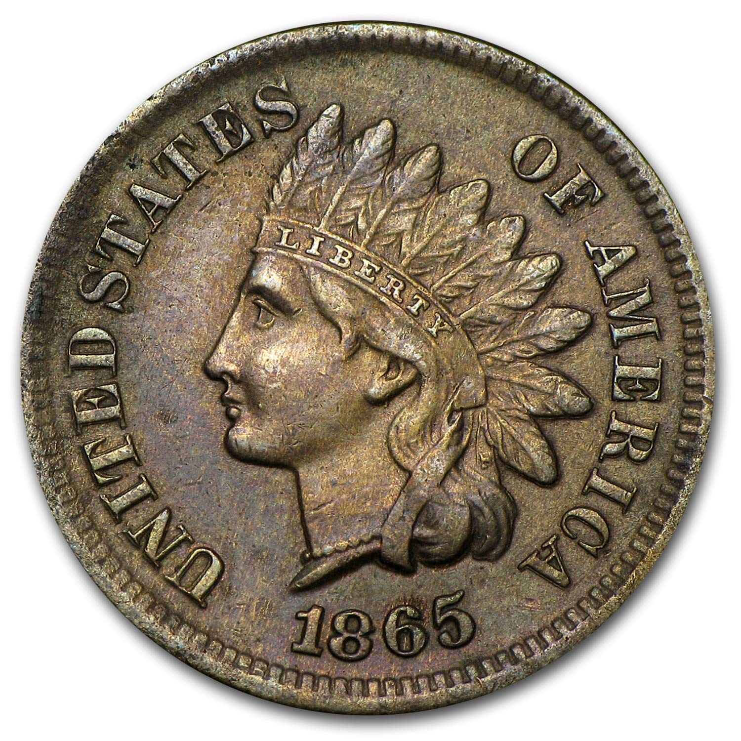 cc144ff41d1f7 1865 Indian Head Cent AU Cent About Uncirculated at Amazon's ...