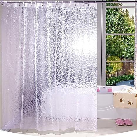 Cortina de ducha antifúngica impermeable para el baño, cubo de agua 3D 71 x 71
