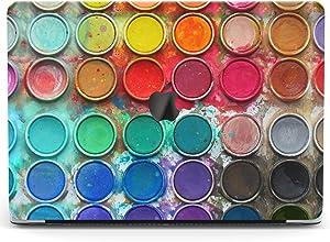 Wonder Wild Case Compatible for MacBook Air 13 inch Pro 15 2019 2018 Retina 12 11 Apple Hard Mac Protective Cover 2017 16 2020 Plastic Laptop Print Paint Palette Watercolor Paint Set Rainbow Colors