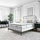Classic Brands Mercer Pillow Top Cool Gel Memory Foam and Innerspring Hybrid 12-Inch Mattress, Twin XL, White