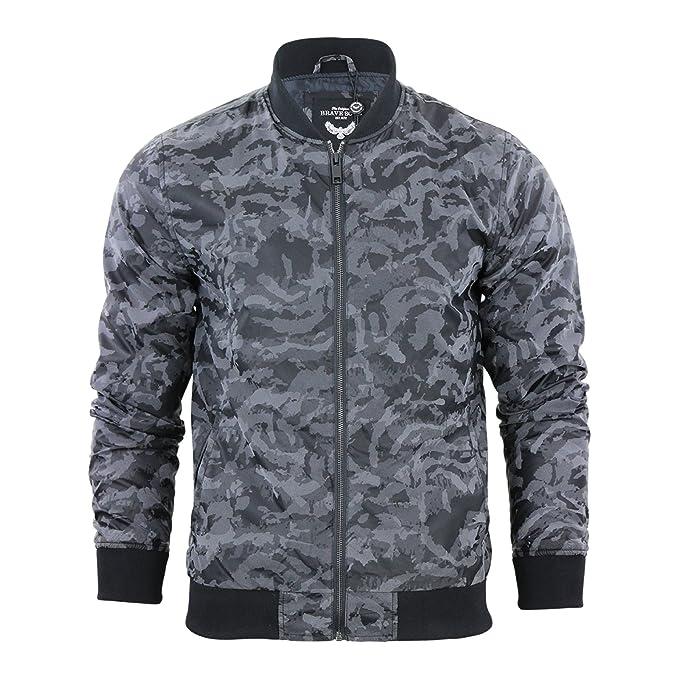 Chaqueta para hombre Bomber Brave Soul Abrigo camuflaje Estambul MA1 Casual Harrington Negro Noir - Noir/motif camouflage: Amazon.es: Ropa y accesorios