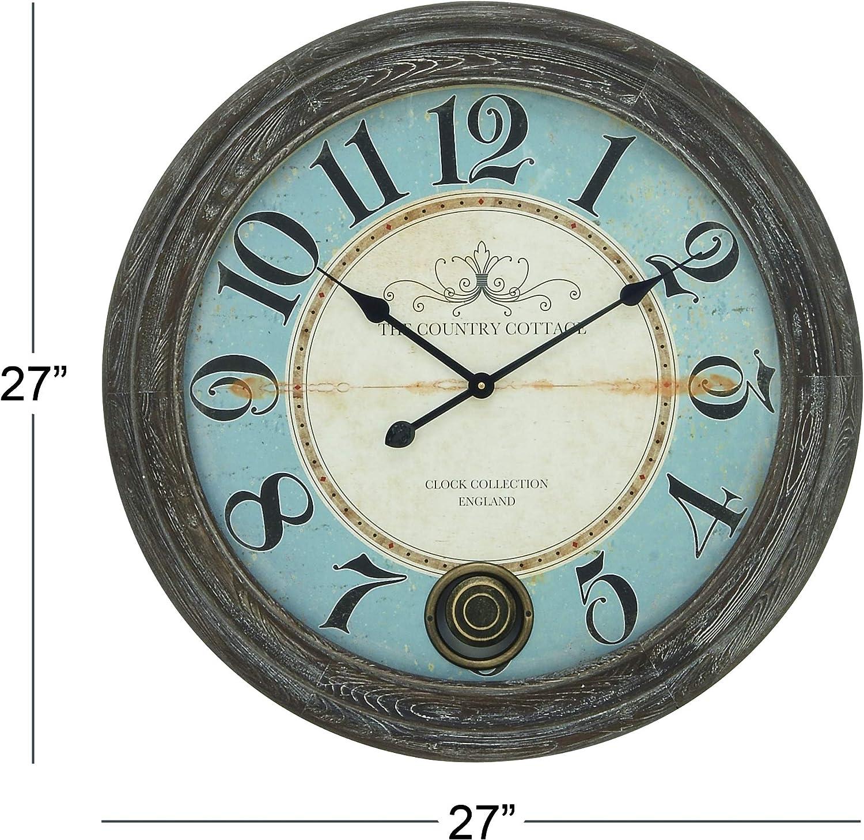 KingFisher Wall Clock Glossy Black on Tasmanian Oak Wood Decent Style Decor