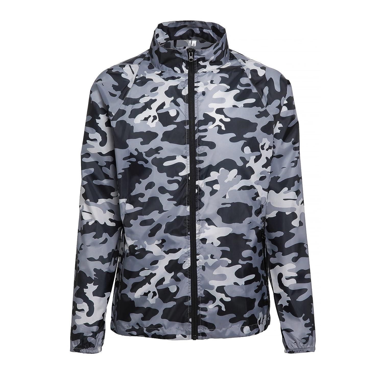 2786 Mens Contrast Lightweight Windcheater Shower Proof Jacket