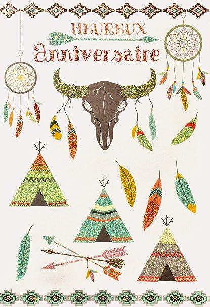 afie 69 - 4030 tarjeta feliz cumpleaños purpurina diseño ...