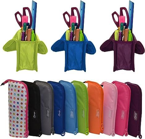 Colorline 59611 - Portatodo Cubi, Estuche Multiuso Convertible en Cubilete para Material Escolar. Color Puntos Colores, Medidas 21.5 x 9 x 7 cm: Amazon.es: Oficina y papelería