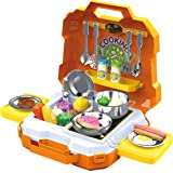JOYIN 35 Pieces Kids Pretend Play Kitchen Toy Kit with Cookware Utensil Toys, Play Food, Pots and Pans for Kids, School…