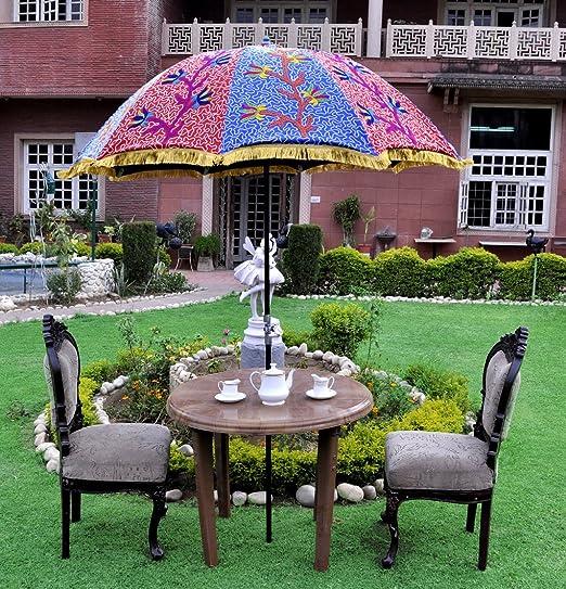 Vintage Jardín paraguas al aire libre para sombrilla grande ...