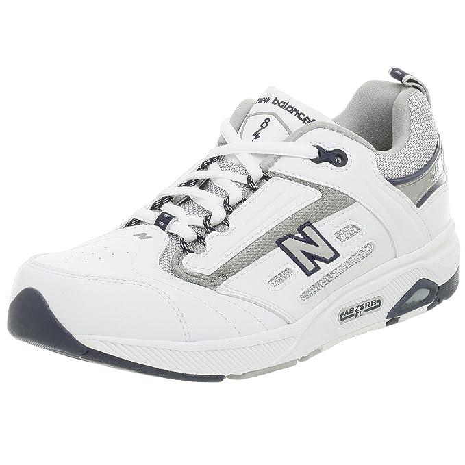 Men's MW844 Walking ShoeWhite/Navy13 B